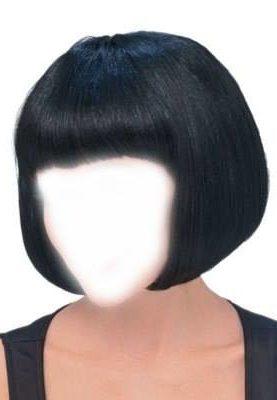 парик каре черный